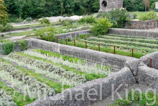Gardens in Landschaftspark, Duisburg-Nord