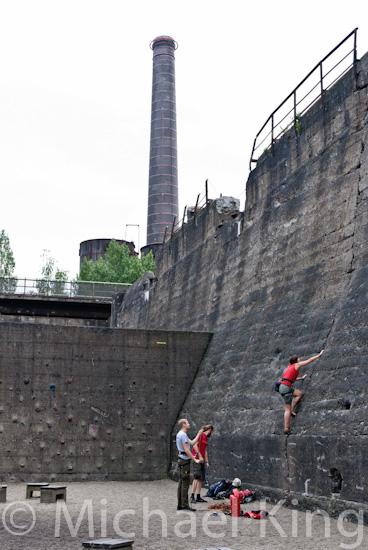 Rock climbing practice.